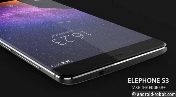 Безрамочный смартфон Elephone S3 доступен сейчас ивчерном цвете