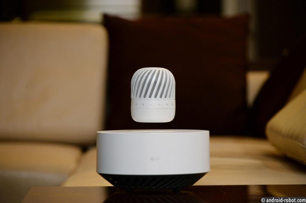 Компания LG представит свою футуристичную портативную левитирующую колонку