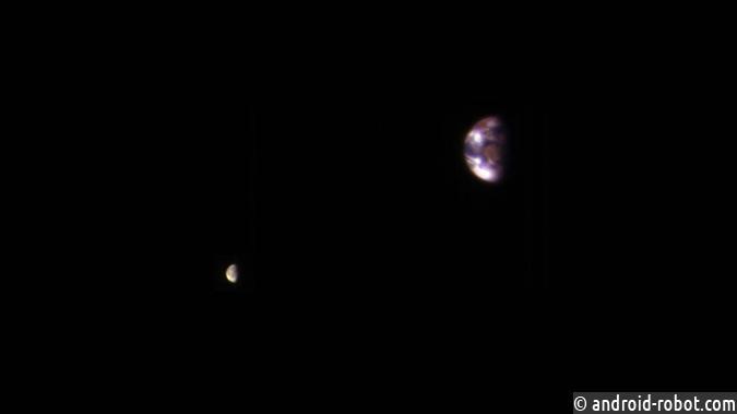 Ученые NASA показали ФОТО Земли иЛуны сорбиты Марса