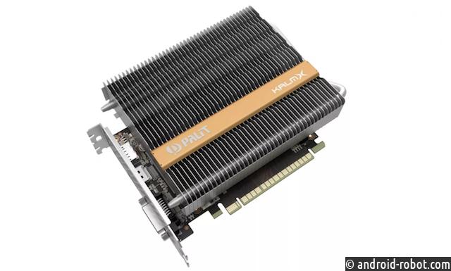 Представлена видеокарта Palit GeForce GTX 1050Ti KalmX спассивной системой охлаждения
