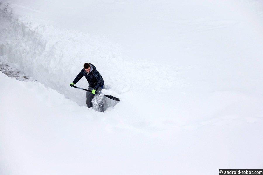 Снегопады смертельно опасны для мужчин
