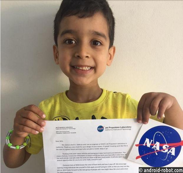 Отправивший вNASA чертеж ракеты пятилетний парень получил ответ