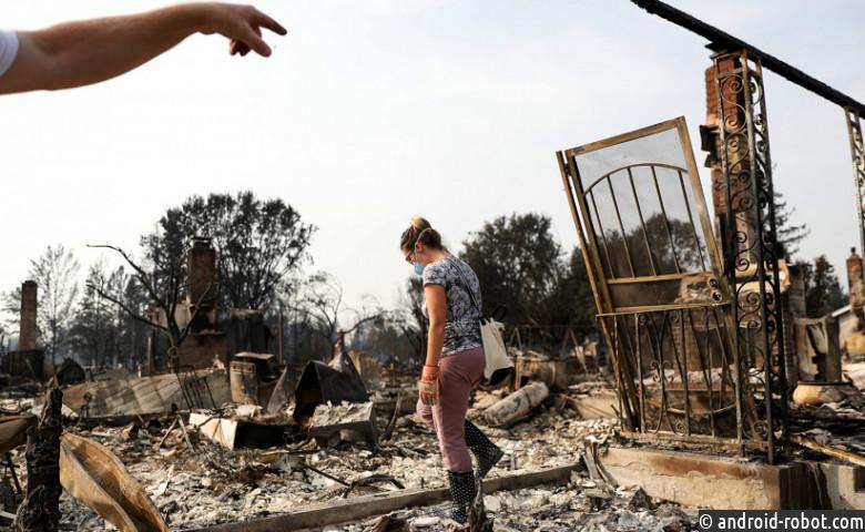 США: из-за пожара вКалифорнии пострадали 38 человек