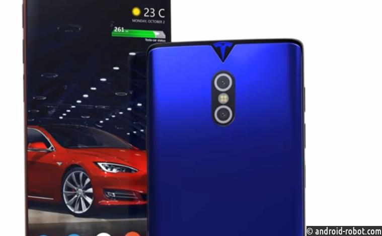 Концептуальный автомобиль революционного телефона Tesla Phone показали навидео