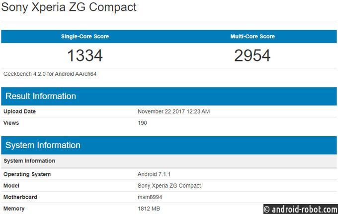 Sony XperiaZG Compact