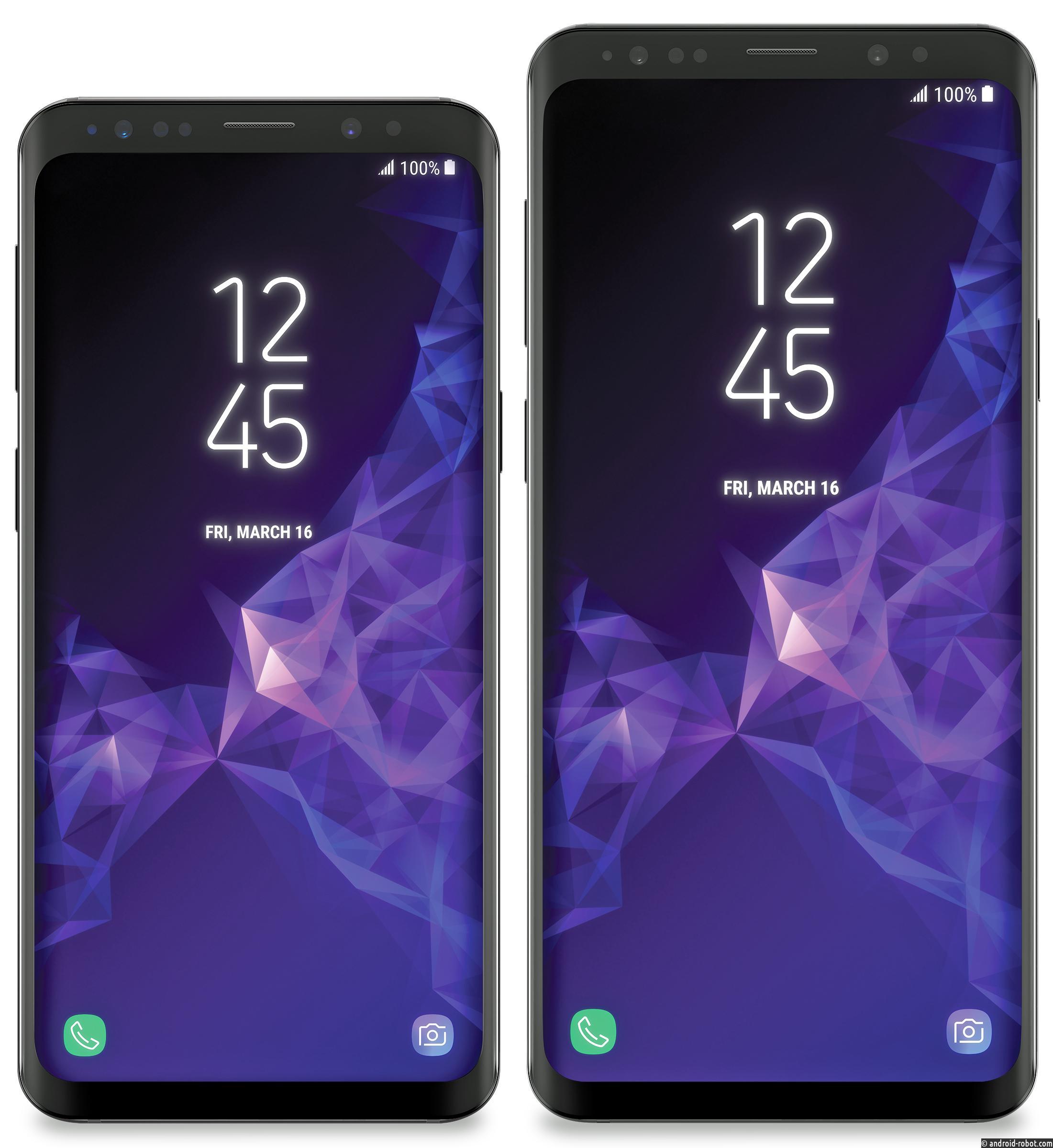 Вweb-сети появились первые изображения Самсунг Galaxy S9 иS9+