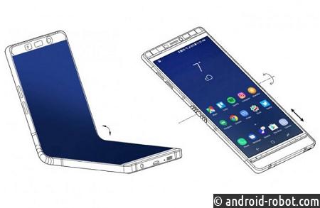 Самсунг представила смартфон сгнущимся экраном Galaxy X