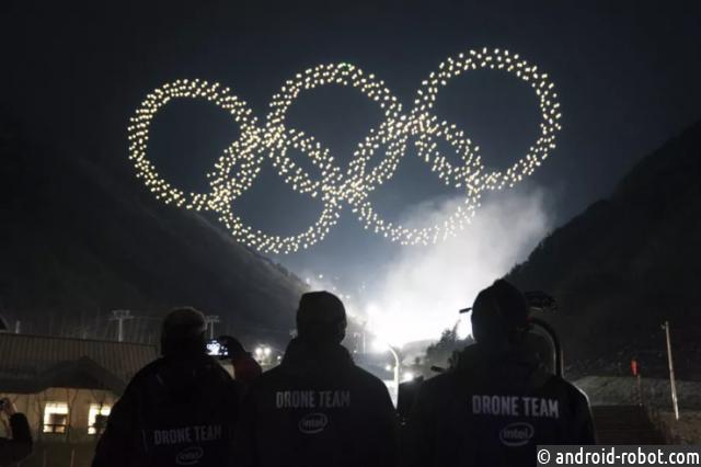 Intel запустила 1218 дронов наоткрытии Олимпиады