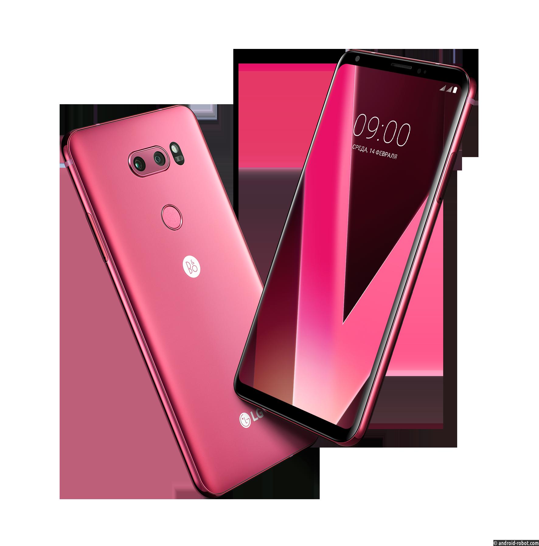 Представлен смартфон  LG V30+ в новом малиновом цвете