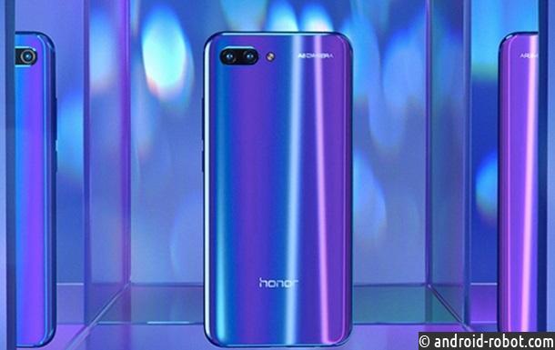 Безрамочный смартфон Huawei Honor 10 сдвойной камерой представлен официально
