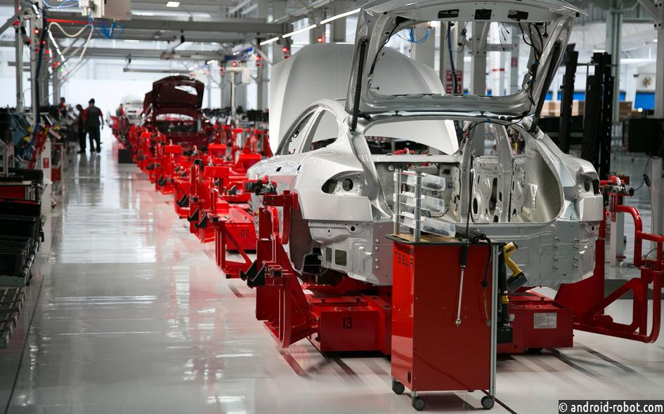 Tesla останавливает производство Model 3