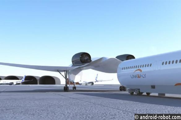 Link & Fly: создатели показали проект гибрида самолёта ипоезда