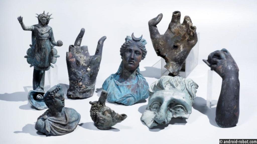 ВИзраиле драйверы случайно отыскали древнеримское судно сартефактами
