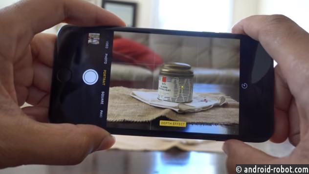 IPhone 7 Plus начнёт снимать скачеством зеркальной фотокамеры