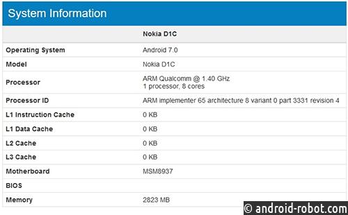 Смартфон Nokia D1C
