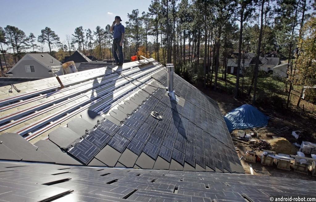 Новейшую разработку— солнечные батареи ввиде крыши представили вАмерике