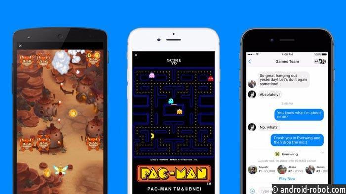 Социальная сеть Facebook запустила игровую платформу Instant Games вMessenger иновостной ленте