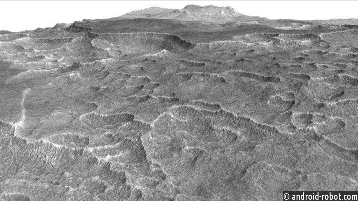 Впоисках воды наМарсе ученые обнаружили целое море