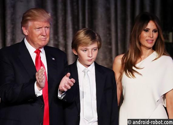 Трамп после инаугурации будет жить вБелом доме без жены