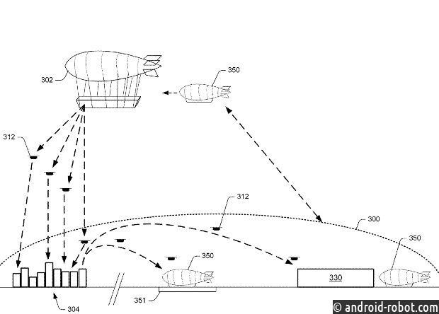 Amazon запатентовала проект летающего склада