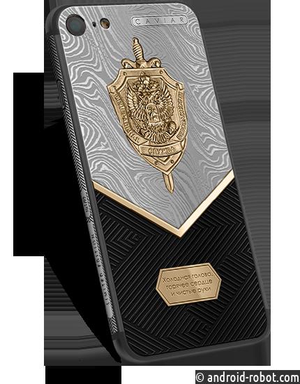 Caviar создали 99 iPhone 7 из пуленепробиваемого титана с золотой эмблемой ФСБ