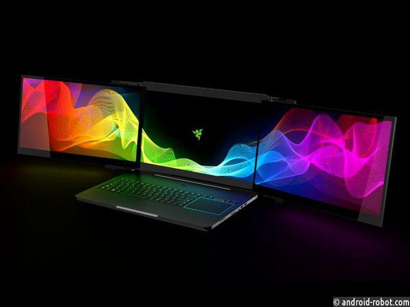Представлен игровой ноутбук стремя мониторами