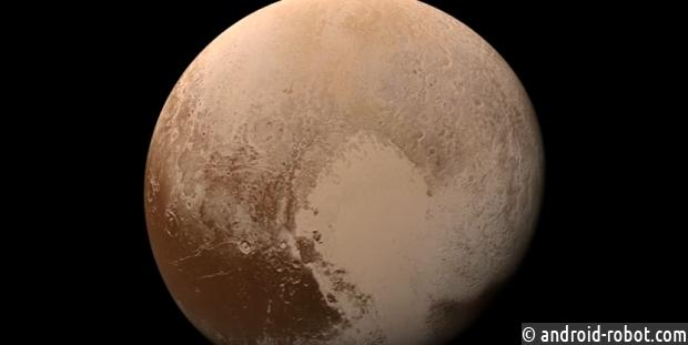 NASA опубликовало цветное видео приближения зонда New Horizons кПлутону