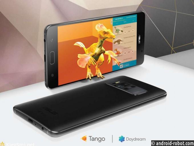 ASUS официально представил первый смартфон для Daydream иTango