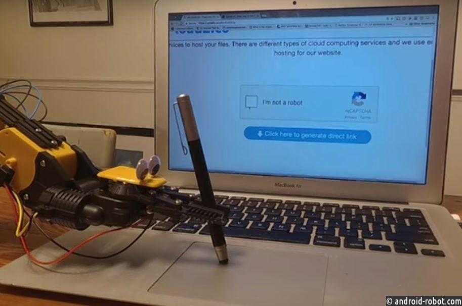 робот смог обмануть тест-капчу «Янеробот»
