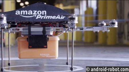 Amazon будет доставлять посылки при помощи дрона ипарашюта