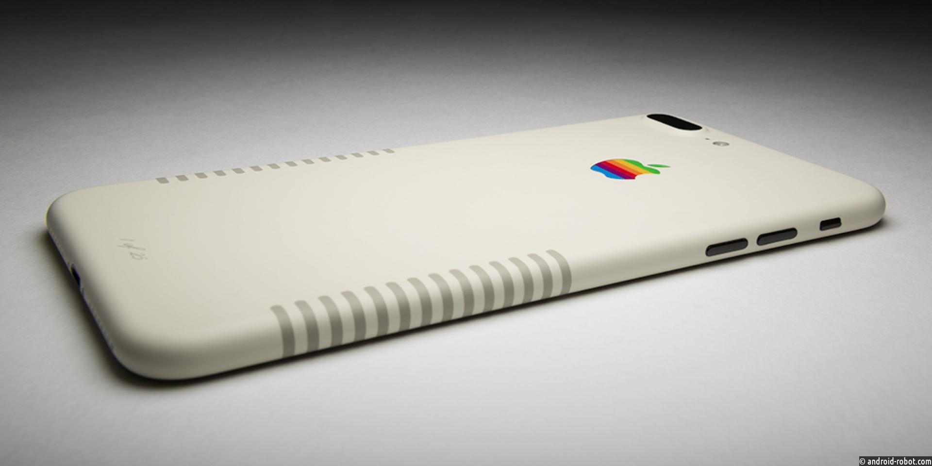 ColorWare предлагает смартфон iPhone 7+ Retro, раскрашенный встиле старыхПК Macintosh