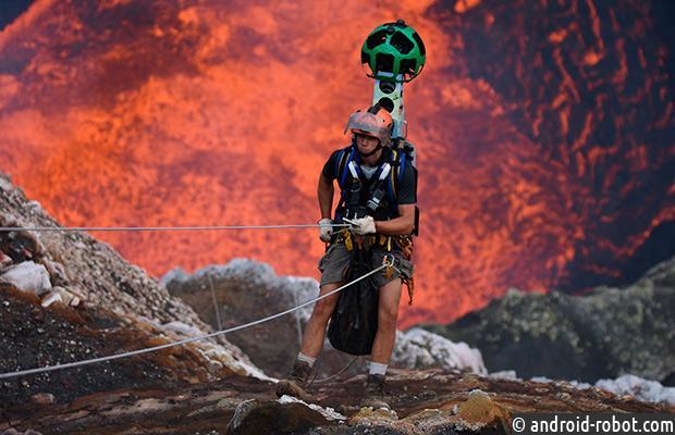 ВGoogle Street View появились фотографии внутри действующего вулкана