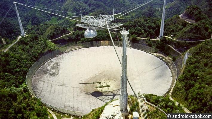 Известный радиотелескоп «Аресибо» пострадал отурагана «Мария»
