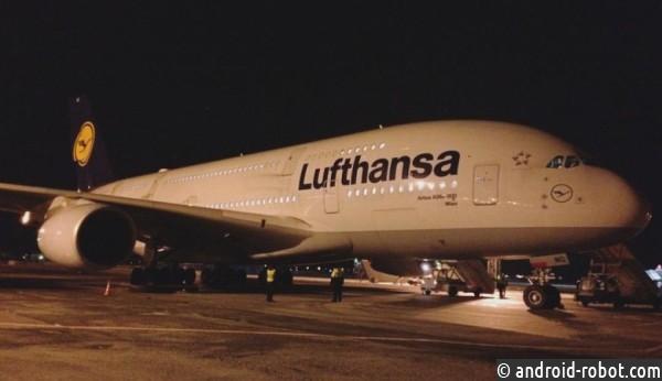 ВНовосибирске экстренно приземлился Airbus A380 авиакомпании Lufthansa