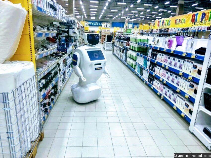 Российская сеть супермаркетов совершила крупнейшее внедрение сервисных роботов в мире
