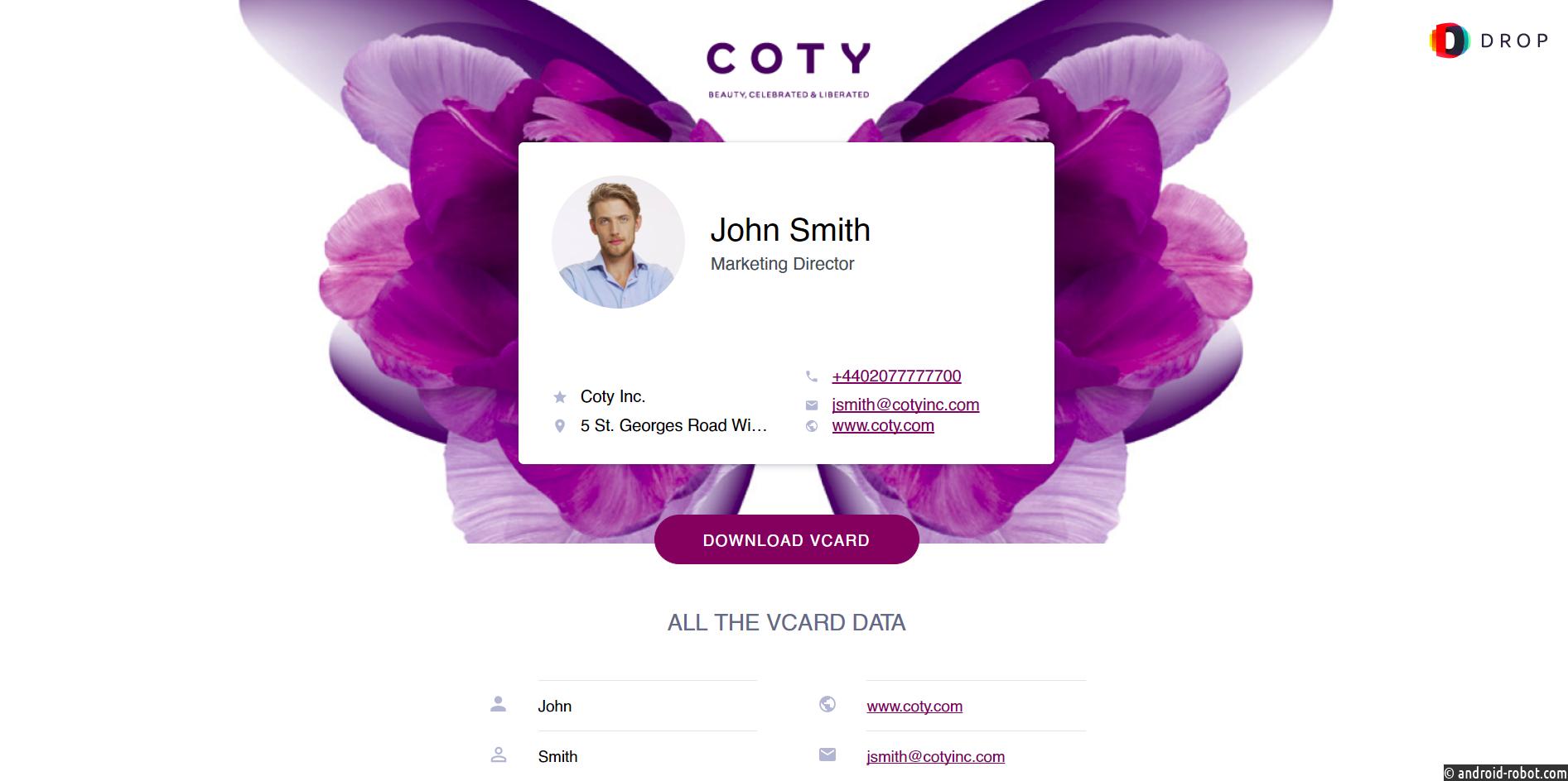 Российское подразделение компании Coty Inc. объявило о полномасштабном внедрении системы электронных визиток на базе платформы DROP