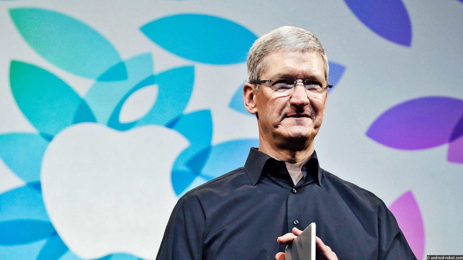 Годовое вознаграждение руководителя Apple Тима Кука выросло на47%