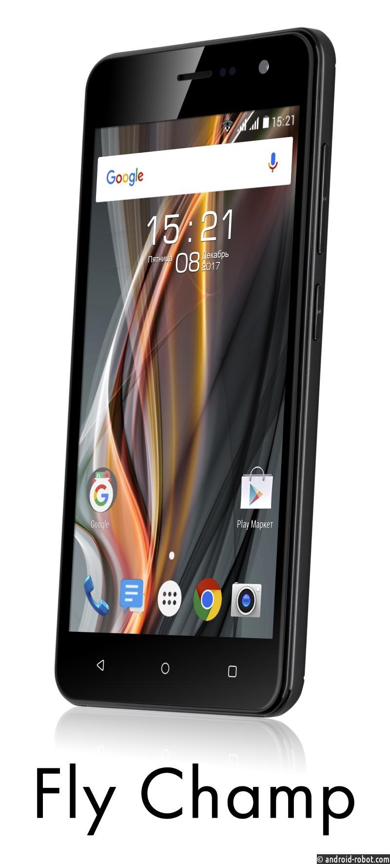 Fly анонсировал начало продаж новой модели смартфона Fly Champ