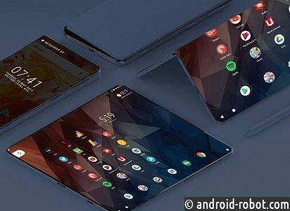 Самсунг представила смартфон соскладывающимся дисплеем
