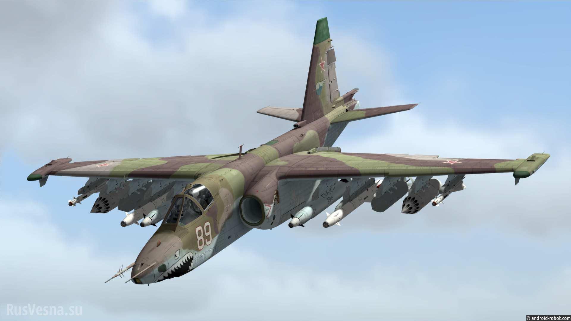 Минобороны заявило о гибели сбитого вСирии пилота Су-25