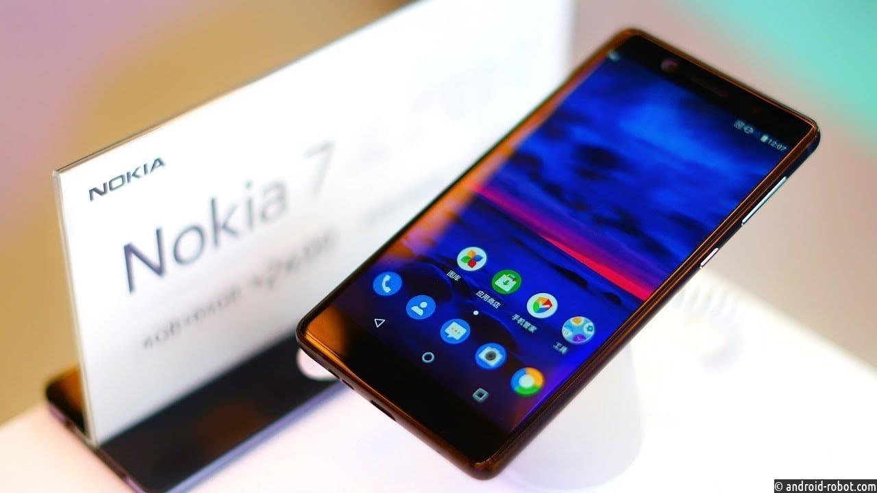 В РФ запускают продажи безрамочного телефона Nokia 7 Plus