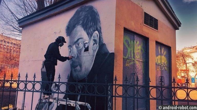 ВПетербурге появилось граффити артиста изфильма «Довлатов»
