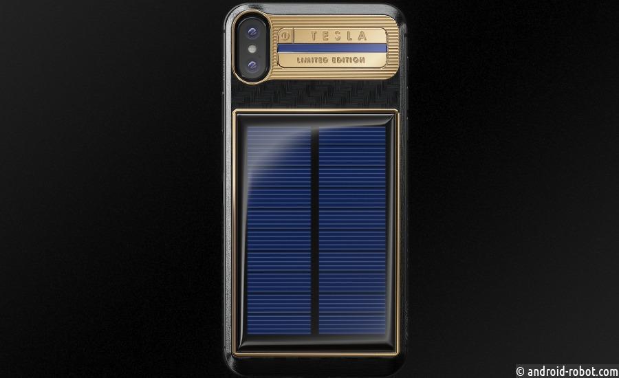 Представлен iPhone X Tesla от Caviar c бесконечной зарядкой
