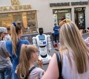 Московские студенты привезли робота на Никольскую
