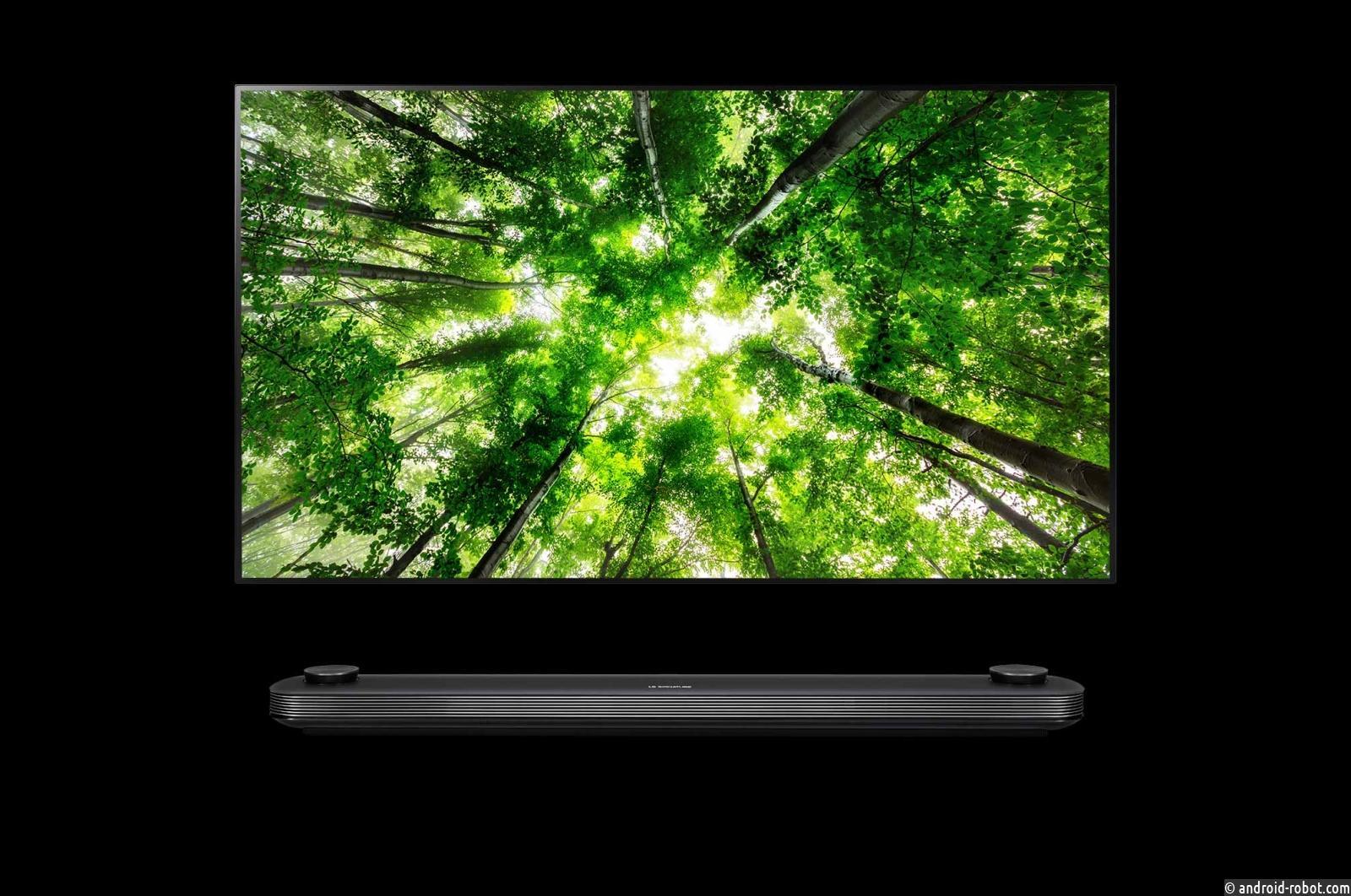 LG представляет уникальный OLED телевизор LG OLED77W8V