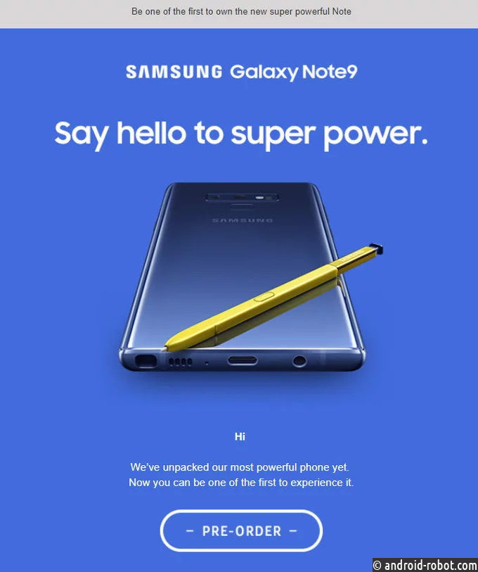 Самсунг случайно рассекретила смартфон Galaxy Note 9