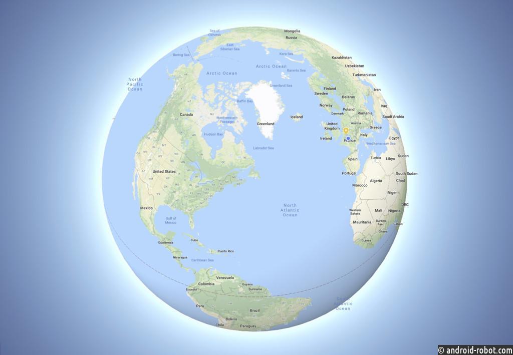 Google Maps показывает иную форму Земли
