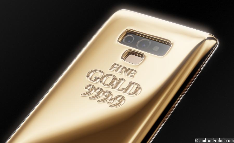 В России Samsung Galaxy Note 9 украсят килограммом золота