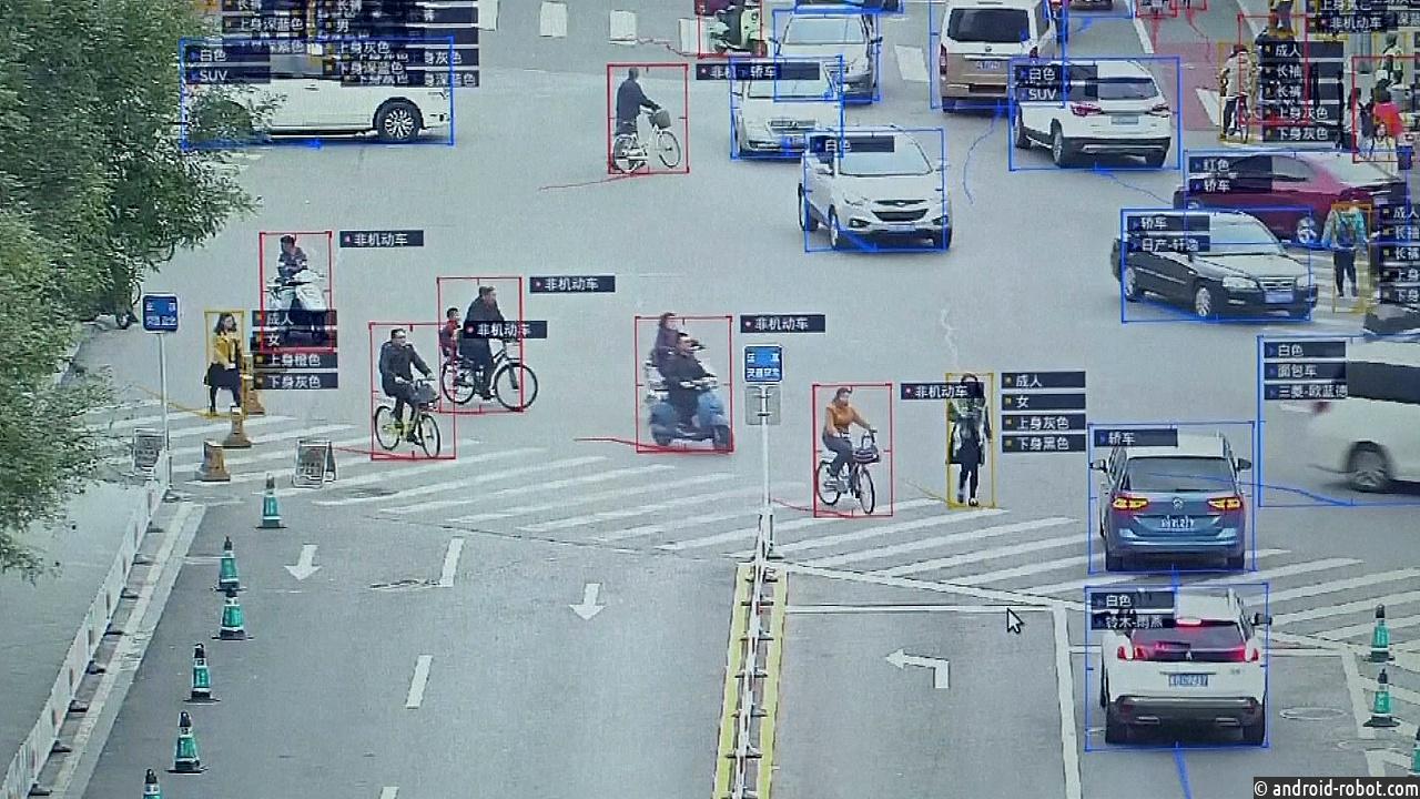 Распознавание лиц на улице в китае
