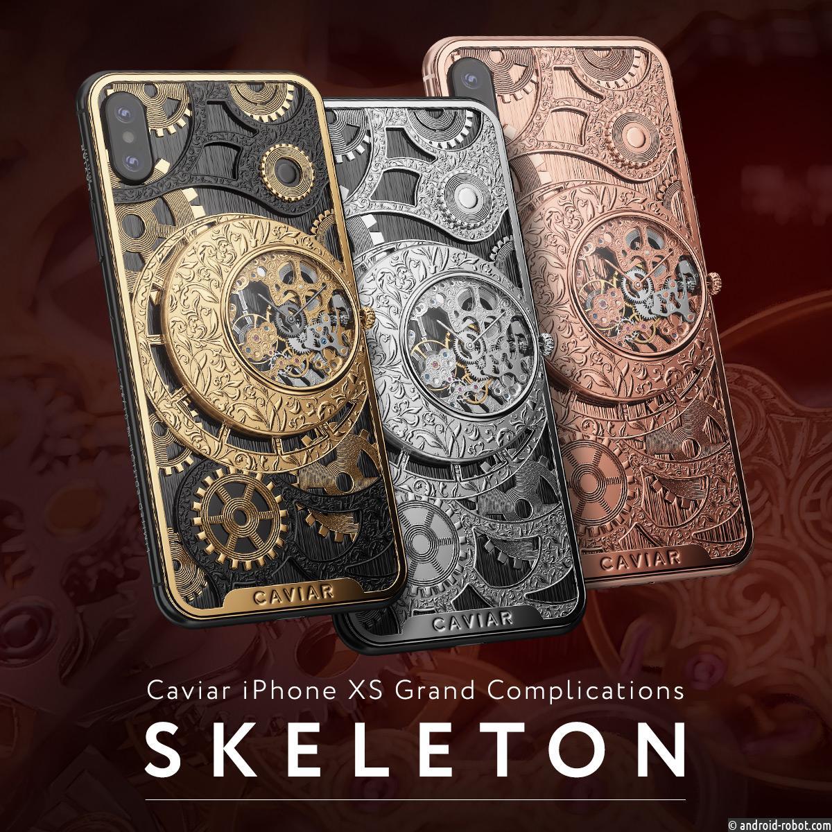 В России создали первый в мире iPhone XS с механическими часами-скелетонами